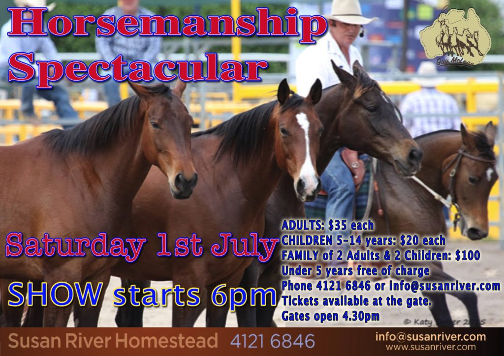 Guy McLean Horsemanship Advert 1st July