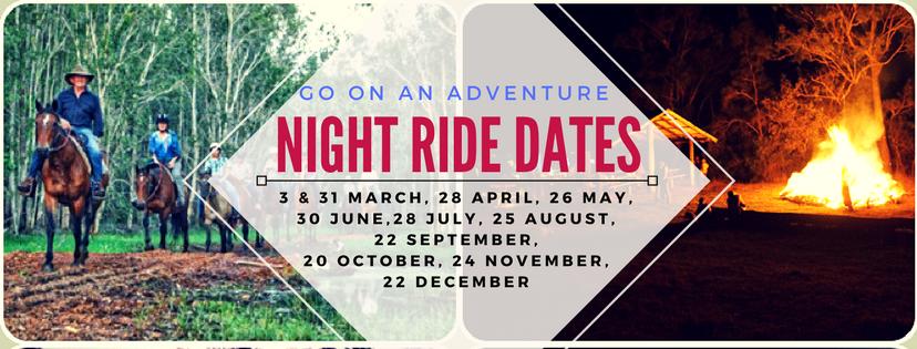 night ride dates 2018